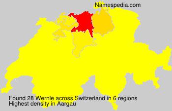 Surname Wernle in Switzerland