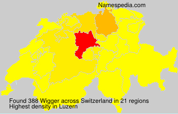 Surname Wigger in Switzerland