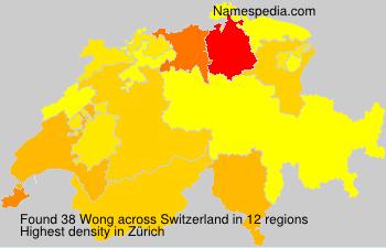 Familiennamen Wong - Switzerland