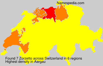 Surname Zorzetto in Switzerland