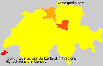 Surname Zuin in Switzerland