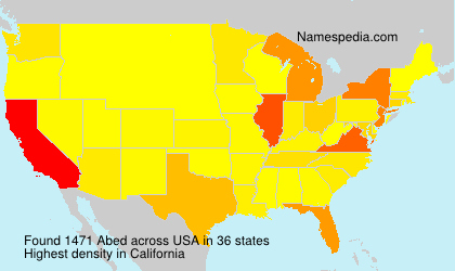 Surname Abed in USA