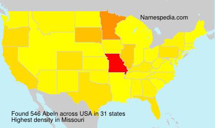 Familiennamen Abeln - USA