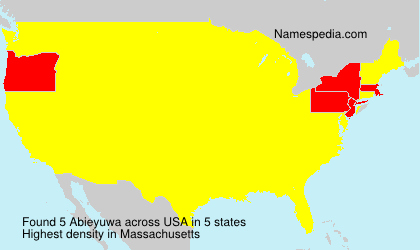 Surname Abieyuwa in USA