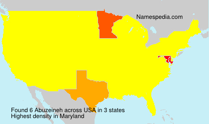 Surname Abuzeineh in USA