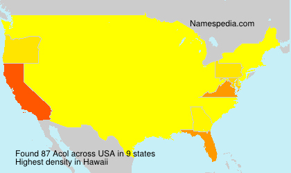 Surname Acol in USA