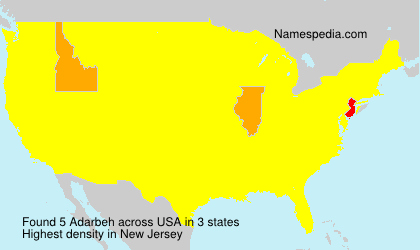 Surname Adarbeh in USA