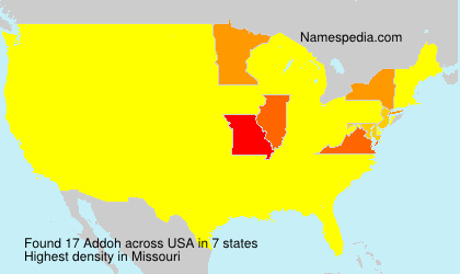 Surname Addoh in USA
