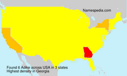 Surname Adike in USA