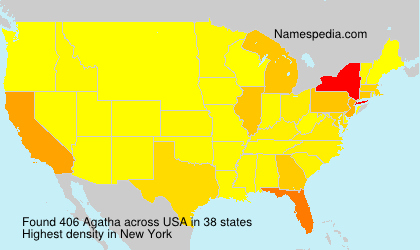 Surname Agatha in USA