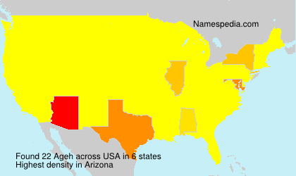 Surname Ageh in USA