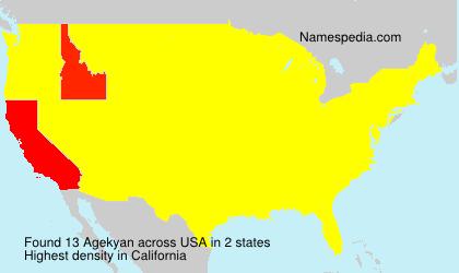 Surname Agekyan in USA