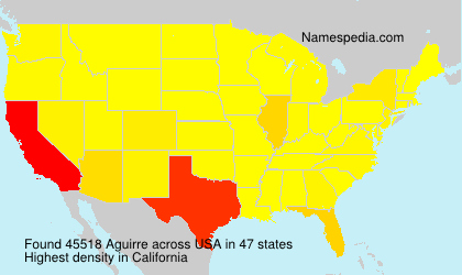 Surname Aguirre in USA