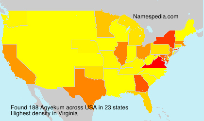 Surname Agyekum in USA