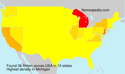 Surname Ahlam in USA