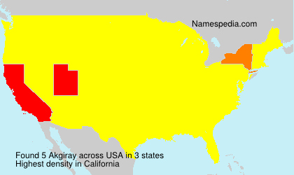 Surname Akgiray in USA