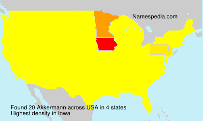 Familiennamen Akkermann - USA
