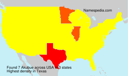 Surname Akubue in USA