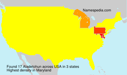 Surname Aladetohun in USA