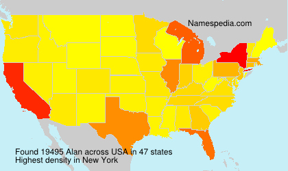 Surname Alan in USA