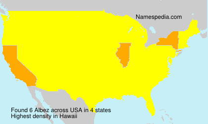 Surname Albez in USA