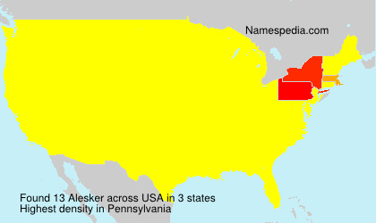 Surname Alesker in USA