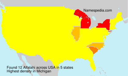 Surname Alfalahi in USA