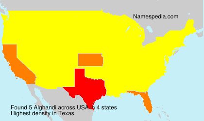 Surname Alghandi in USA