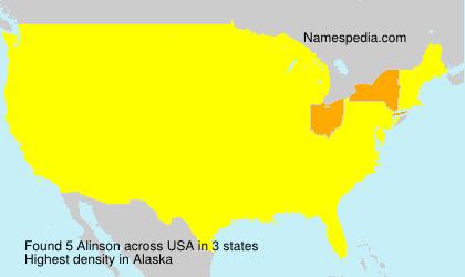 Surname Alinson in USA