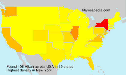 Familiennamen Alkan - USA