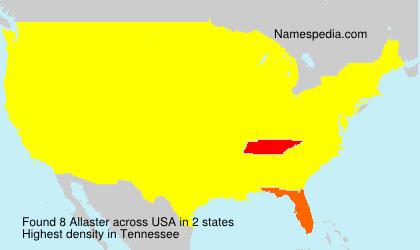Surname Allaster in USA