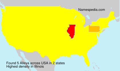 Surname Alleya in USA