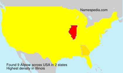 Surname Allpow in USA