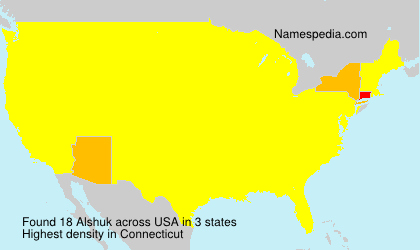 Surname Alshuk in USA