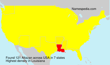 Surname Altazan in USA