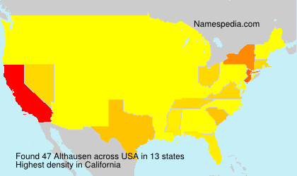 Surname Althausen in USA