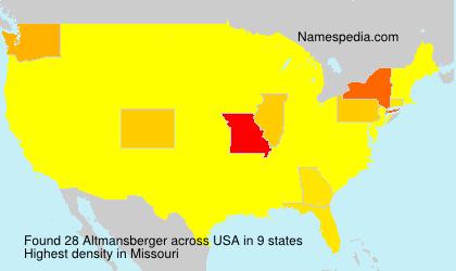 Familiennamen Altmansberger - USA