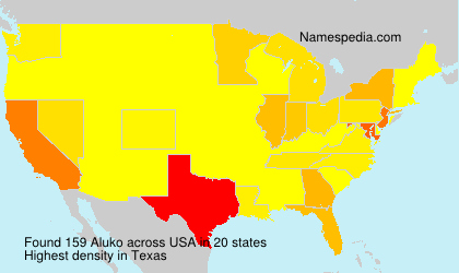 Surname Aluko in USA