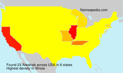 Surname Alwahab in USA