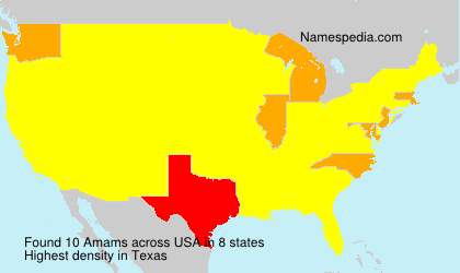 Surname Amams in USA