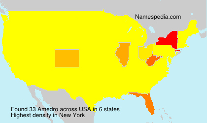 Surname Amedro in USA