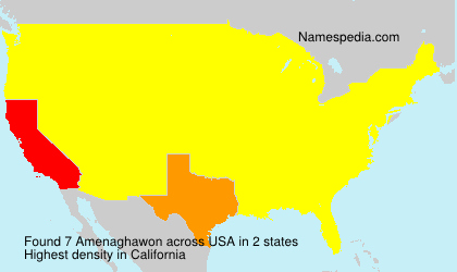 Familiennamen Amenaghawon - USA