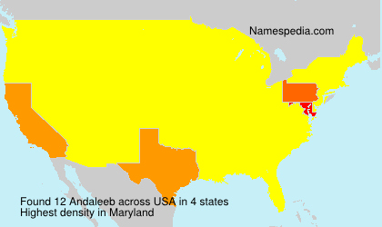 Surname Andaleeb in USA