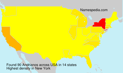 Surname Andrianos in USA