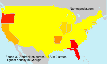 Surname Andronikos in USA
