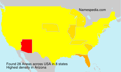 Surname Aneas in USA