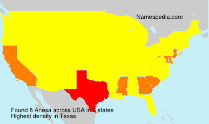 Surname Anesa in USA
