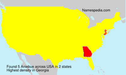 Surname Aniebue in USA