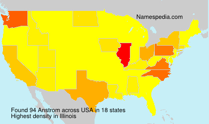 Surname Anstrom in USA
