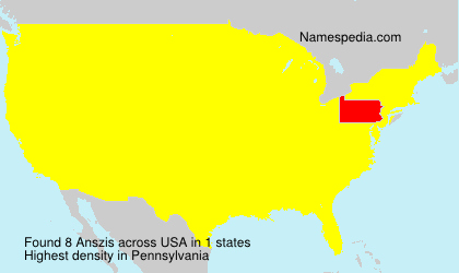 Surname Anszis in USA